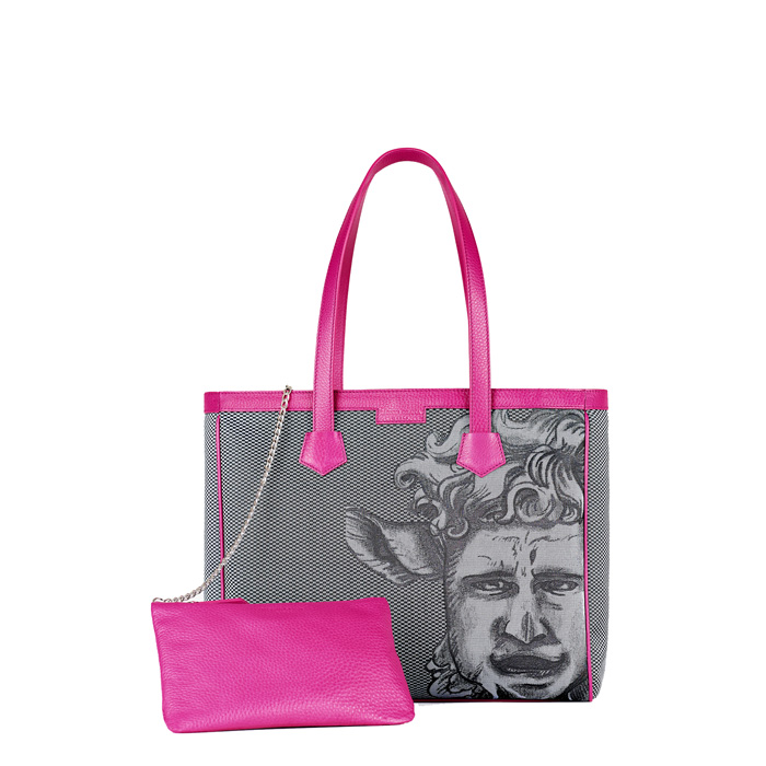 Monya Grana - Shopper mask Luk Black/Fuxia