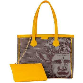 Monya Grana - Shopper mask Luk Brown/Yellow